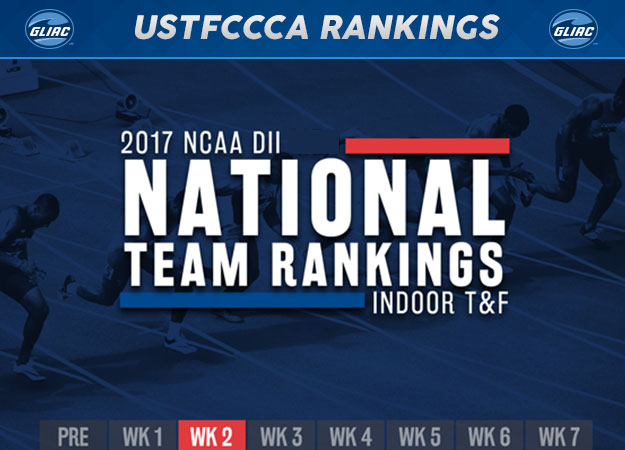 Nine GLIAC Programs Ranked in Latest USTFCCCA Indoor Rankings