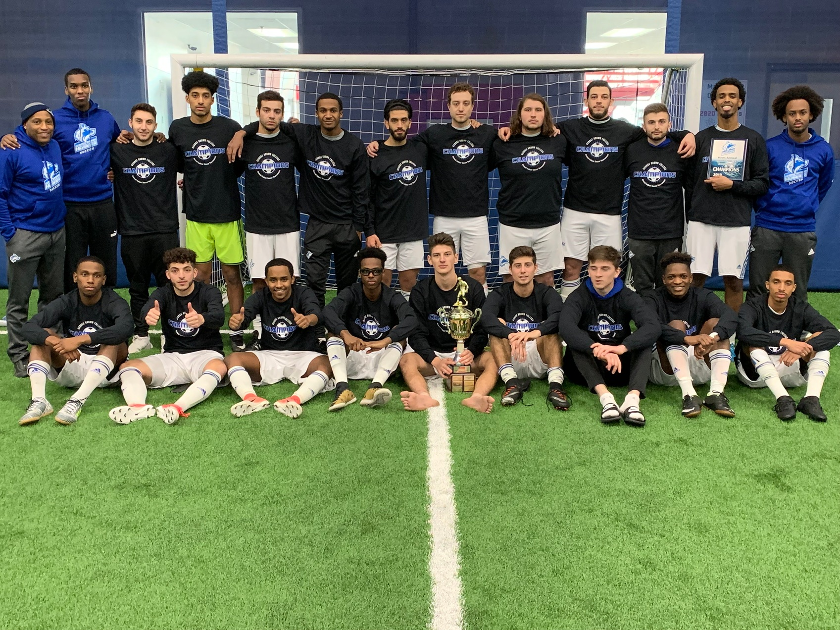 MEN'S INDOOR SOCCER PITCH SHUTOUT IN CLAIMING THIRD STRAIGHT HUSKIES INDOOR SOCCER TITLE