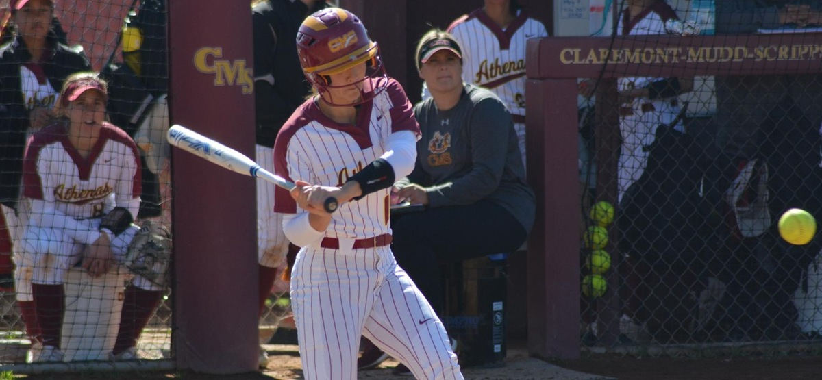 Sophomore Megan Perron had four RBI in the first game of a doubleheader sweep for CMS