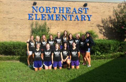 Soccer volunteers at Northeast Elementary BBQ and Carnival