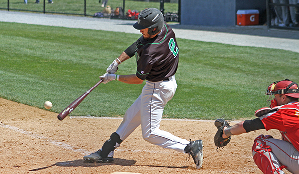 Copyright 2017; Wilmington University. All rights reserved. File photo of Rocky Ferrier from 2016, who went 4-for-5 against SCSU and knocked in the go-ahead RBI against Molloy on Friday.