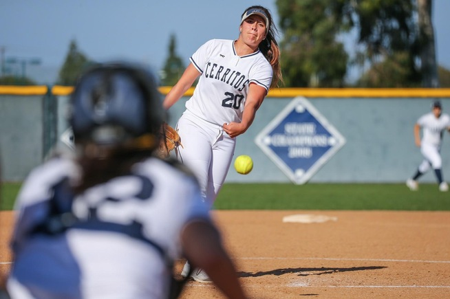 File Photo: Sierra Gerdts tossed a 1-hitter against Rio Hondo