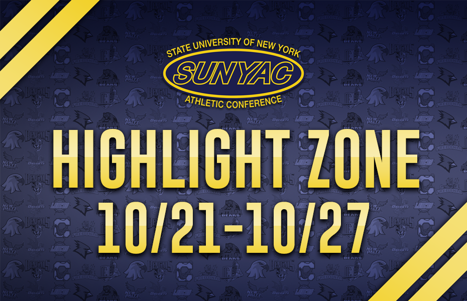 SUNYAC Highlight Zone - Oct. 21-27