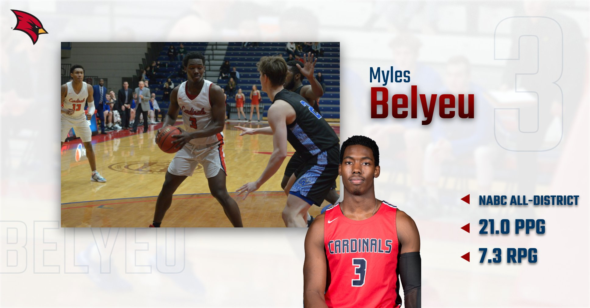 Myles Belyeu Earns NABC All-District Honors