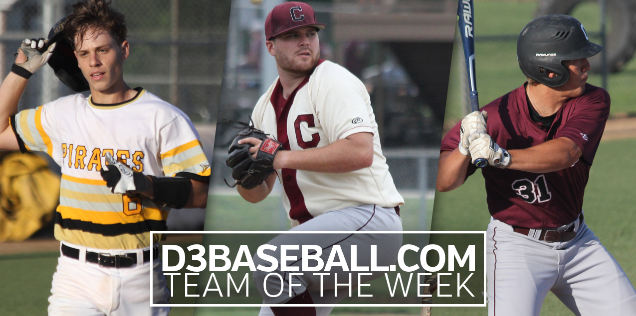 Three SCAC Players Named to D3Baseball.com Team of the Week