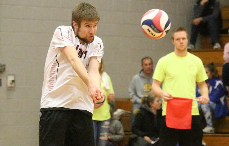 Men's Volleyball Prevails 3-0 at Newbury in NECC Action Wednesday