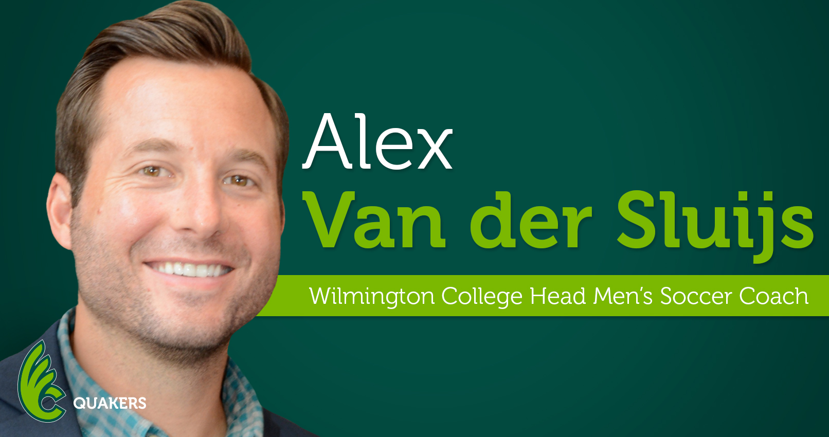 Alex Van der Sluijs Named Head Men's Soccer Coach