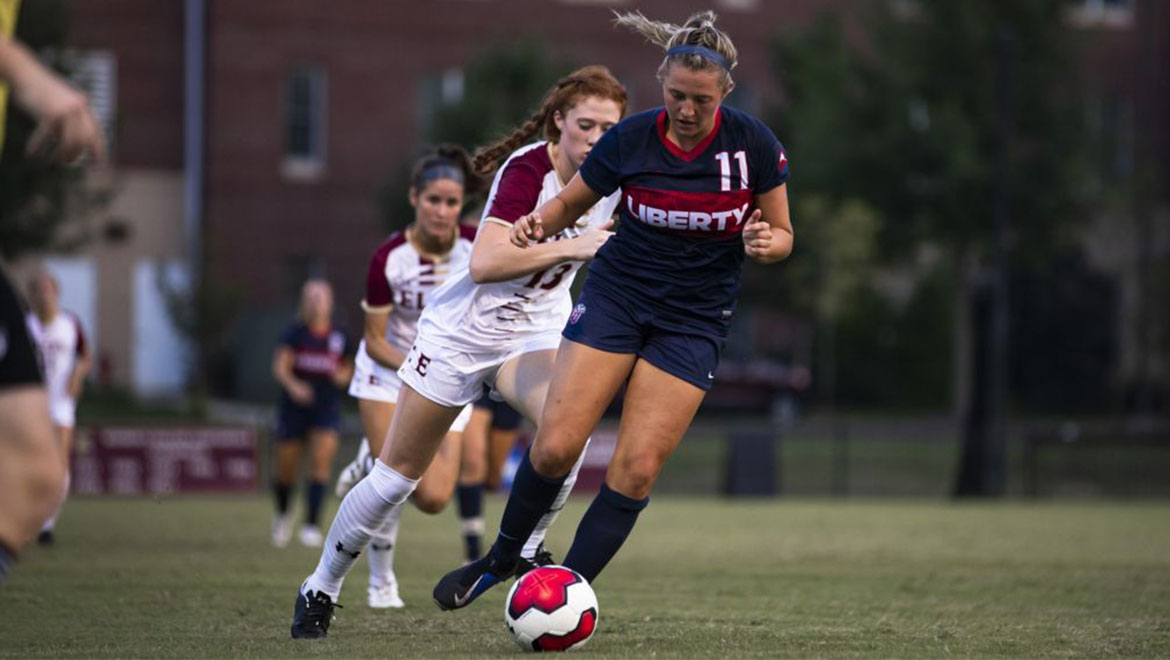 Liberty's Lead Slips Away, Ties Elon 1-1