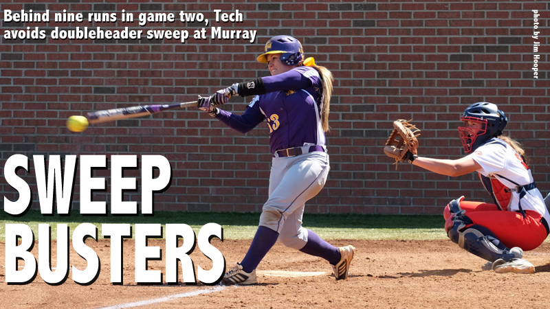 Tech plates nine in game two to earn split at Murray State