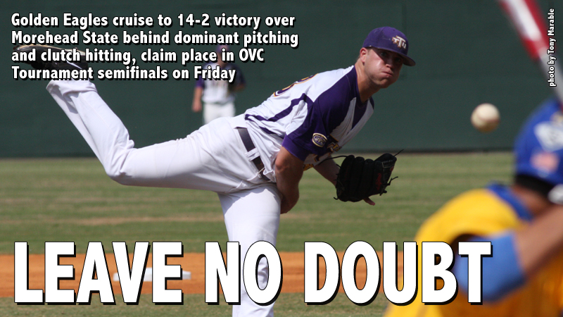 Golden Eagles cruise in first game of OVC Tournament, down Eagles 14-2
