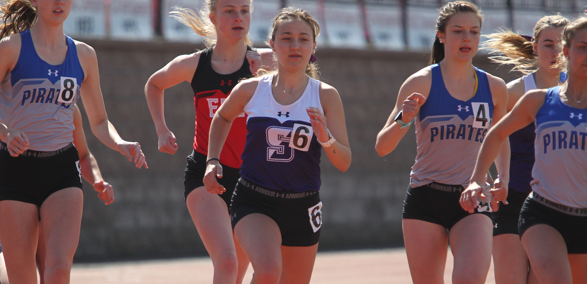 Freshman Abigail Guziewicz won the 5,000-meter run on Saturday at the Monarch Open.