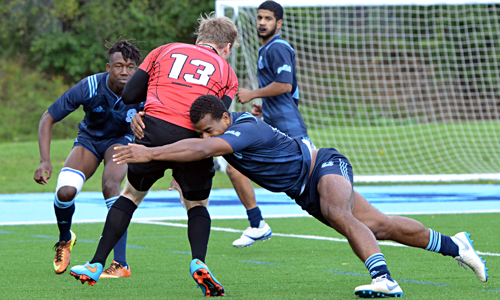 Men's rugby rallies in second half to down Seneca