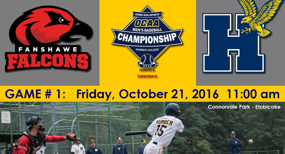 HAWKS OPEN 2016 OCAA CHAMPIONSHIPS ON FRIDAY VS. FANSHAWE