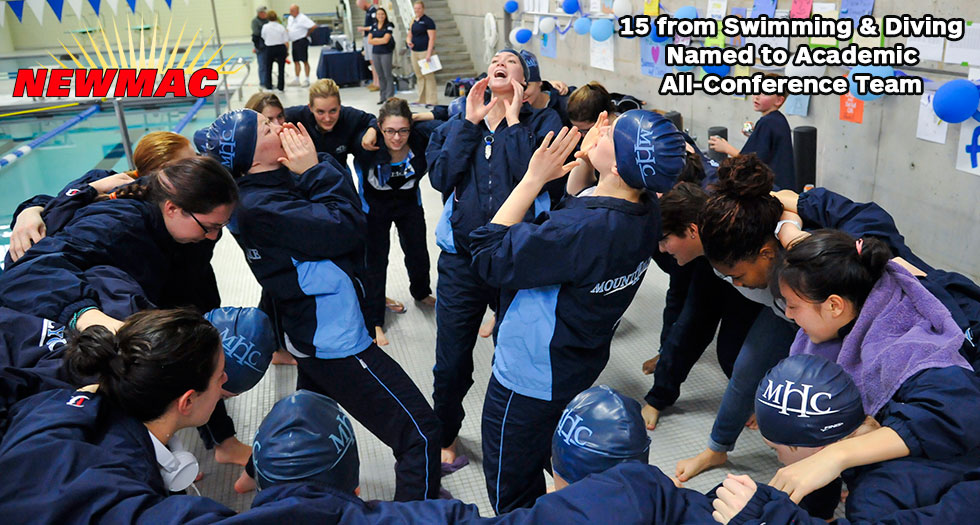 Swimming & Diving Places 15 on NEWMAC Academic All-Conference Team