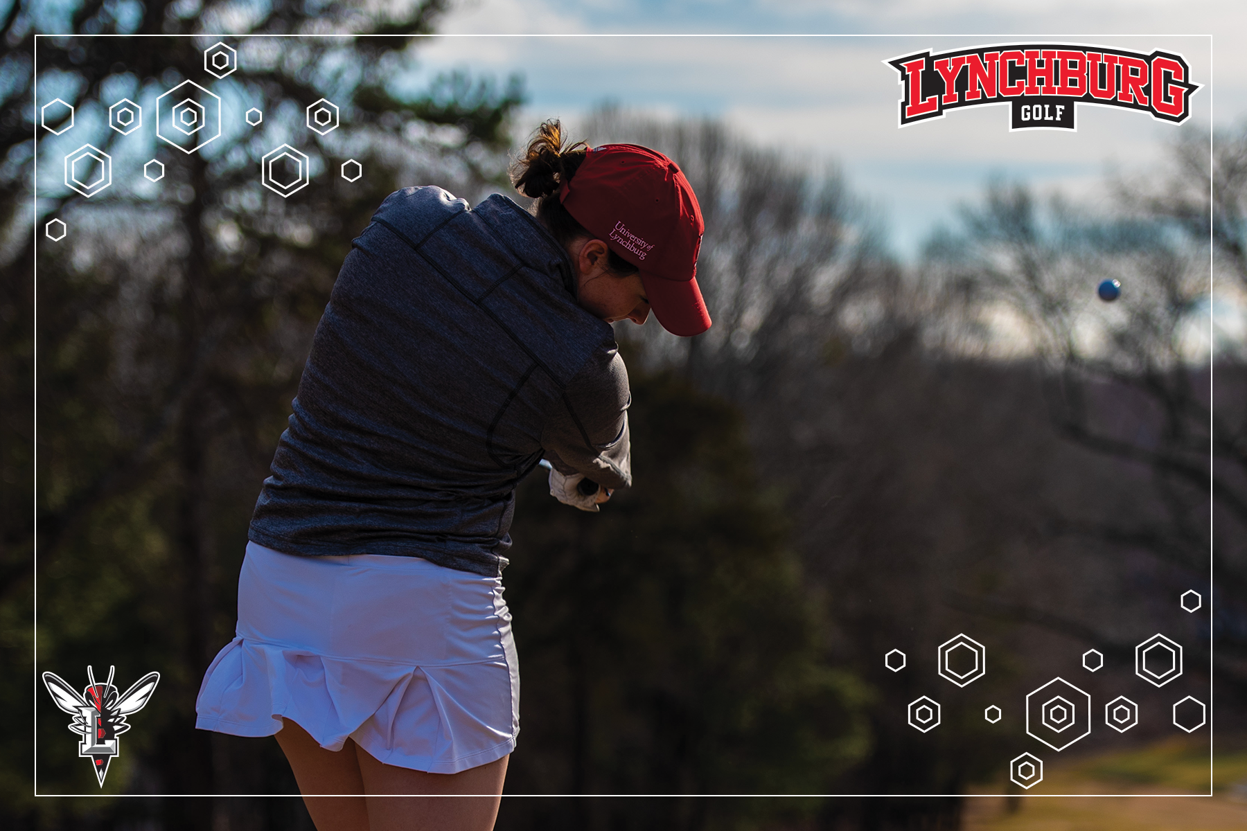 Photo of women's golfer swinging a club