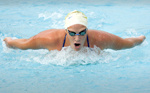 Schwalb, May Complete First Day at 2007 NCAA Women's Swimming Championships