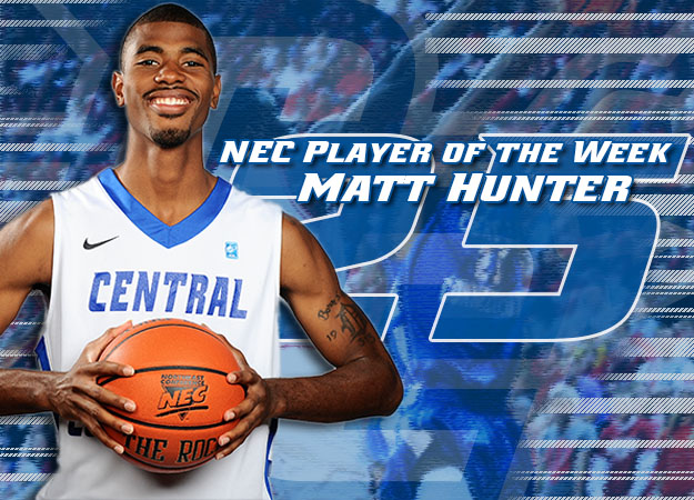Hunter Named NEC Player of the Week