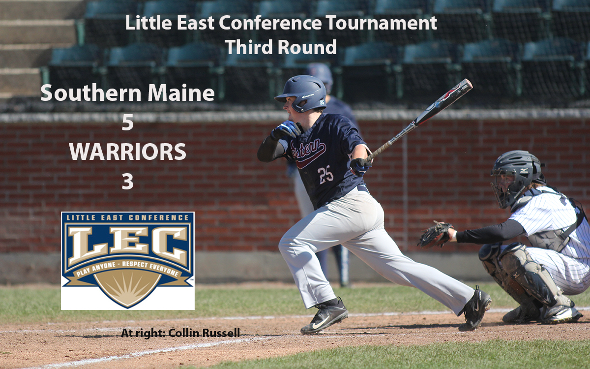 Baseball: Warriors' Season Ends in Third Round of Little East Conference Tournament