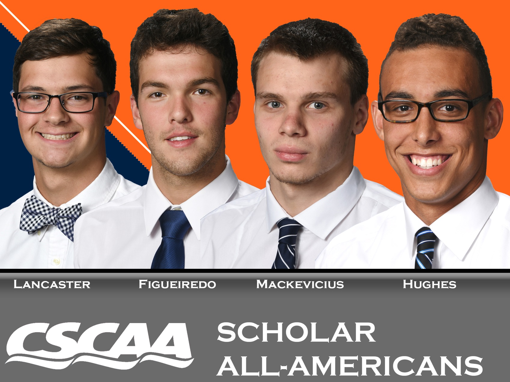 Four Men's Swimmers garner Scholar All-America Status from CSCAA