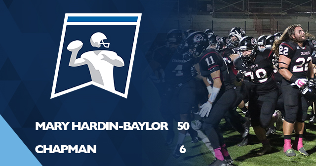 Chapman Football Falls to Mary Hardin-Baylor in NCAA First Round