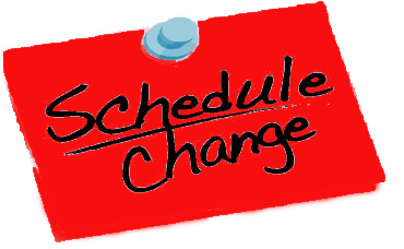 Image result for change of schedule