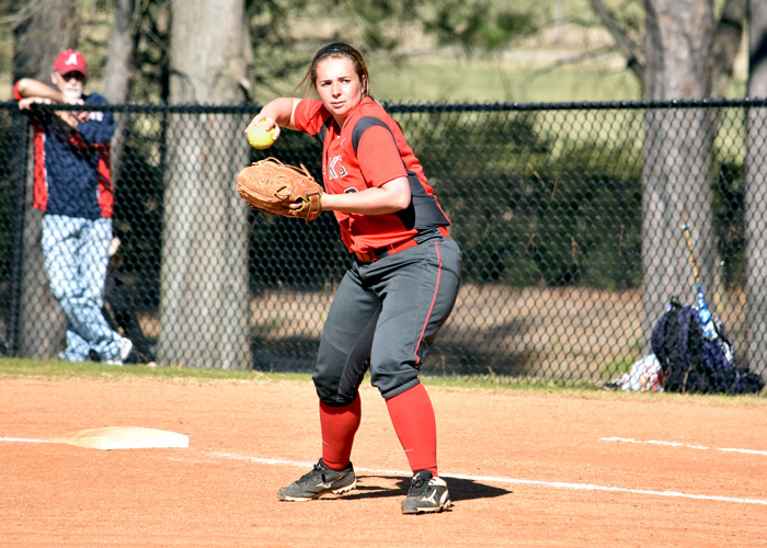 Brandi Blair scored two runs in Saturday's doubleheader loss to sixth-ranked Berry.