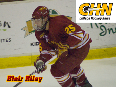 Ferris State's Blair Riley Featured By College Hockey News