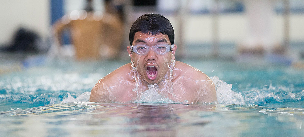 GU's men's team swims unopposed at Cazenovia College