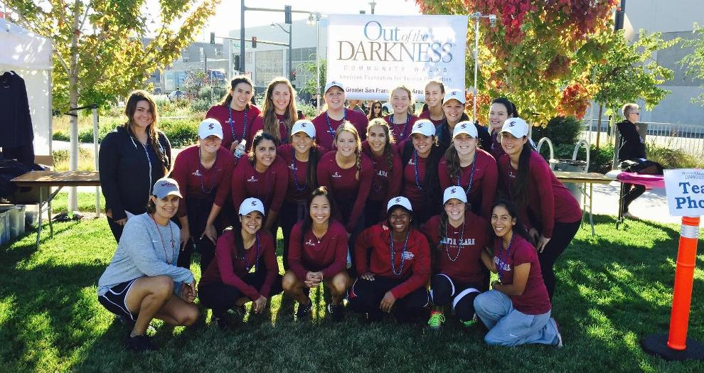 Softball Takes Part in Out of Darkness Walk
