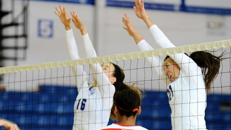Volleyball Earns First Victory with Sweep of Binghamton