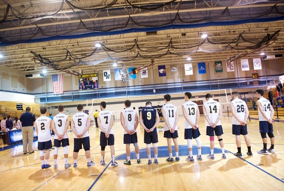 Men's Volleyball Clinches 4-Seed In Skyline Championship with 3-0 Wins Over Bears and Gryphons