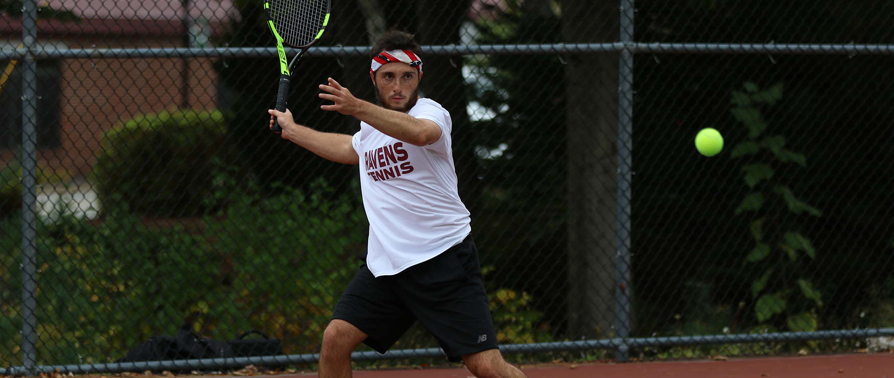 Men's Tennis Squeaks Past Adelphi in NE10 Opener, 4-3