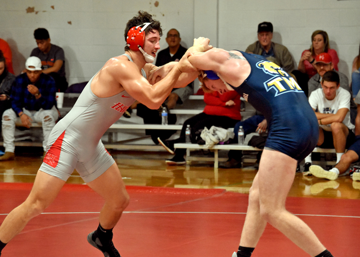 Cody Dixon earned a pin in the 184-pound weight class in Saturday's match against St. Andrews.