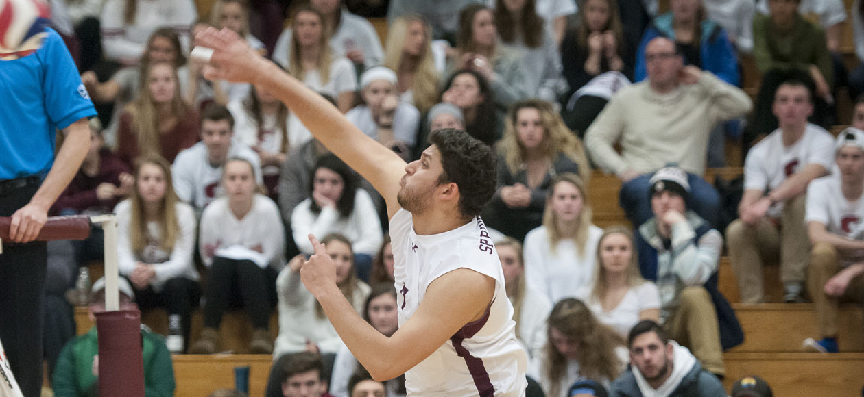 No. 1 Men's Volleyball Returns From Layoff With Sweep of Emmanuel