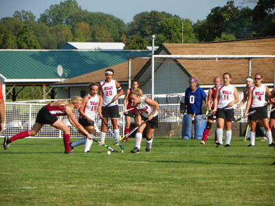 FIELD HOCKEY ROLLS OVER BAYPATH