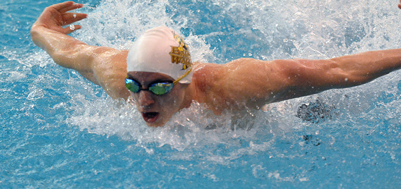 Austin Lockhart swam a career-best in 200-IM and final leg of school-record setting 400-medley relay