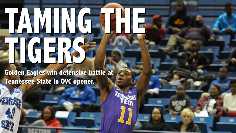 Golden Eagles nab big 57-53 win at Tennessee State in OVC opener