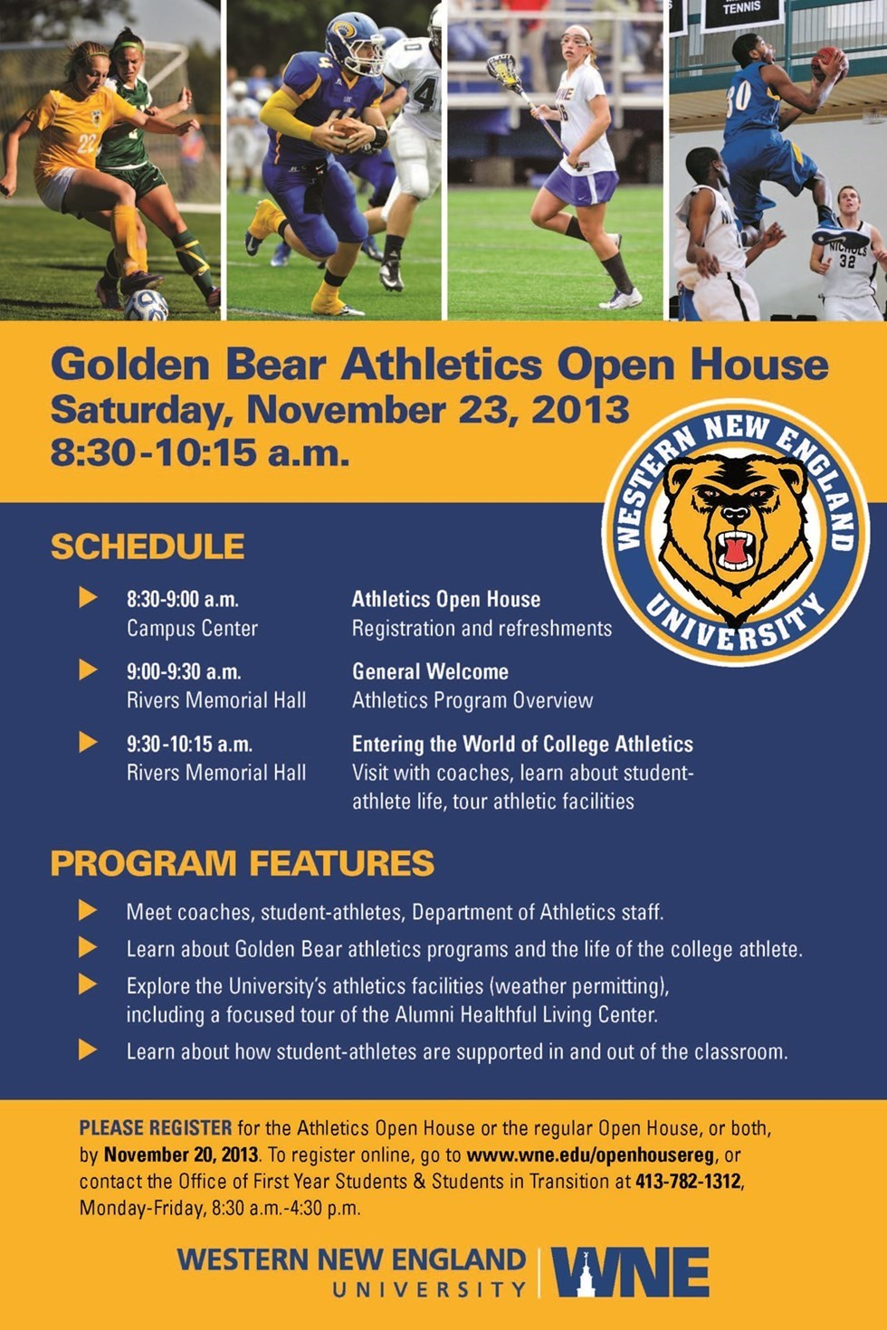 WNE Athletics to Host Prospective Student-Athletes Fall Open House on Saturday
