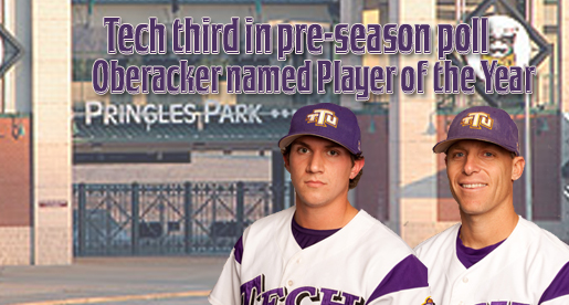 Oberacker selected OVC preseason Player of  the Year; Tech sits at third in preseason polls
