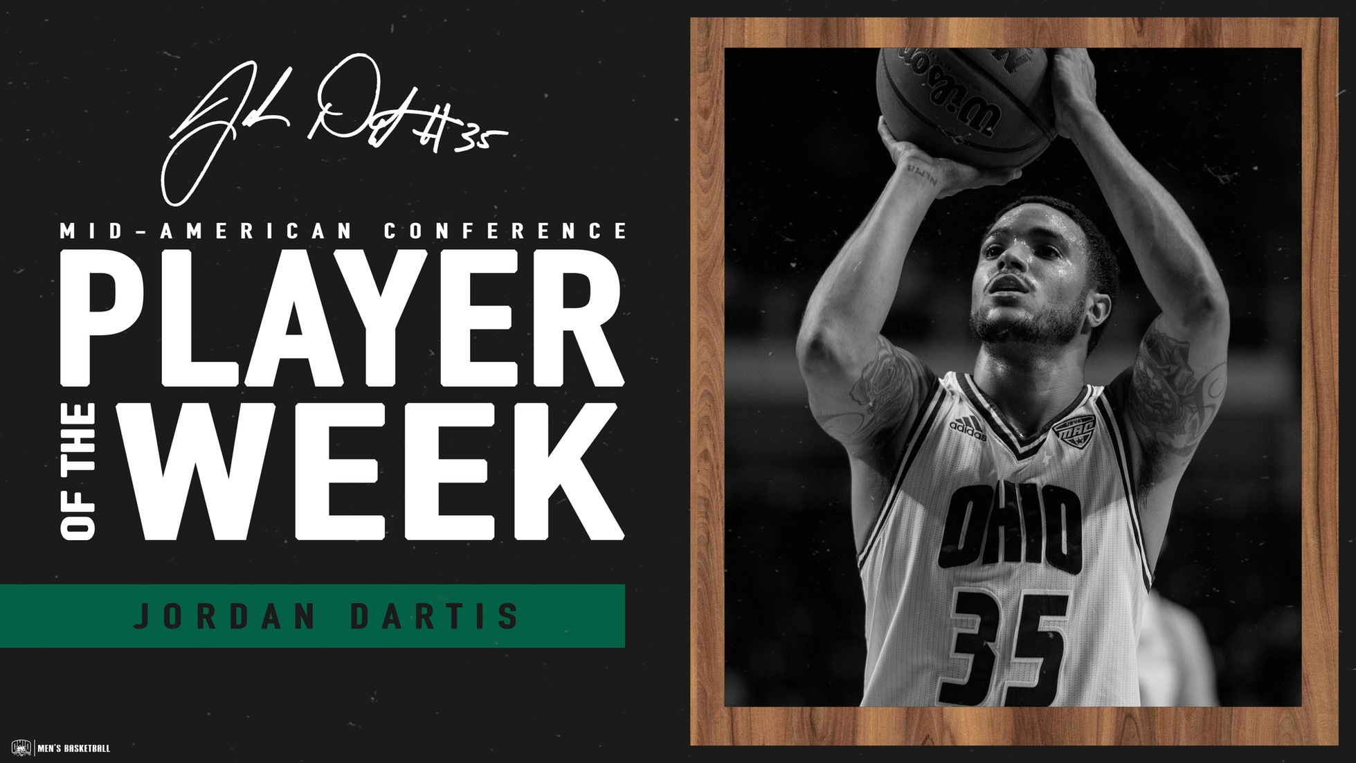 Dartis Named MAC East Co-Player of the Week