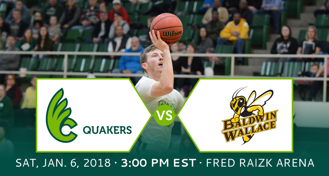 Men's Basketball Hosts Baldwin Wallace Saturday