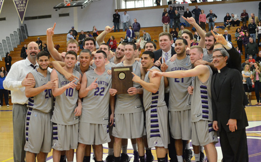 The Royals won the Landmark Conference championship with a 71-56 victory over Susquehanna on Saturday in the Long Center.