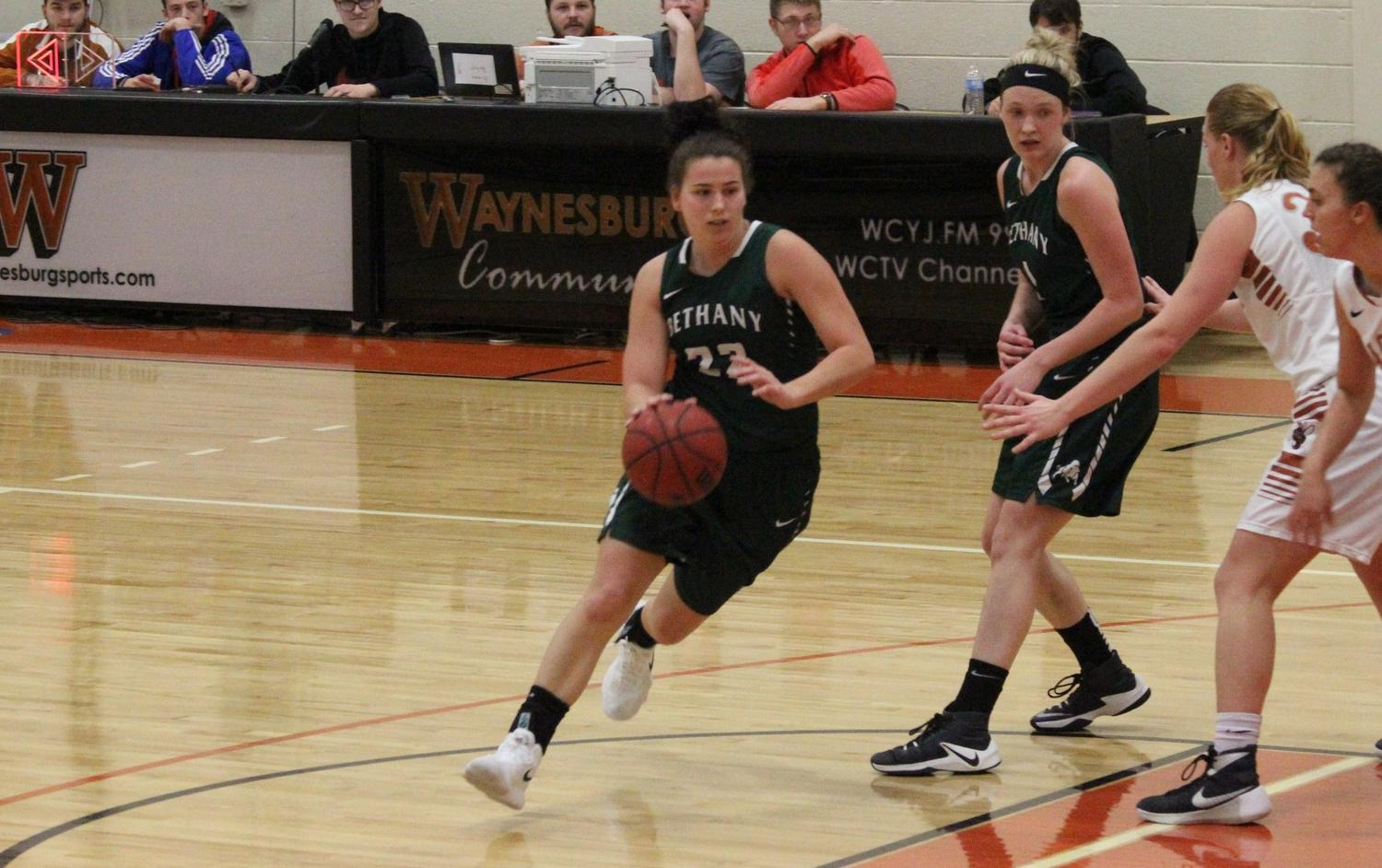 Last-second shot sinks Bison at Waynesburg, 71-70