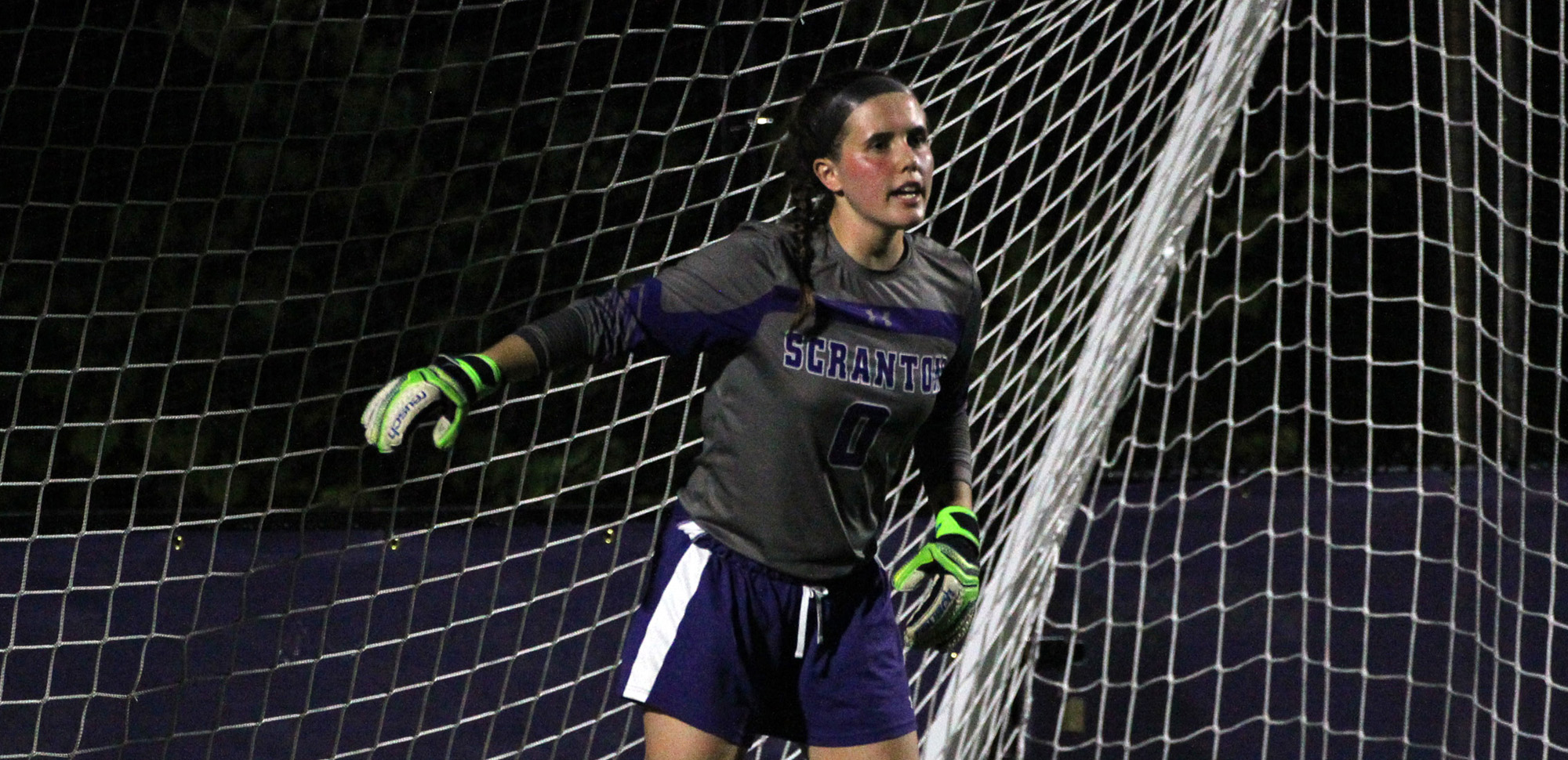 Senior keeper Colleen Berry recorded the 19th shutout of her career on Saturday.