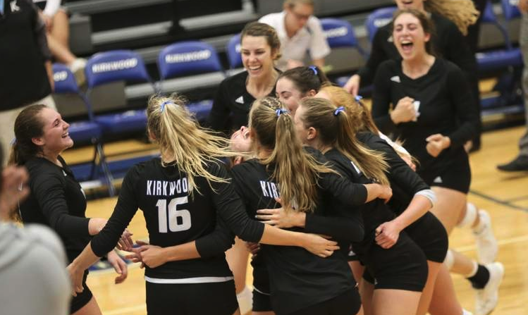 Kirkwood volleyball rallies for gutsy 5-set victory over defending ICCAC champions