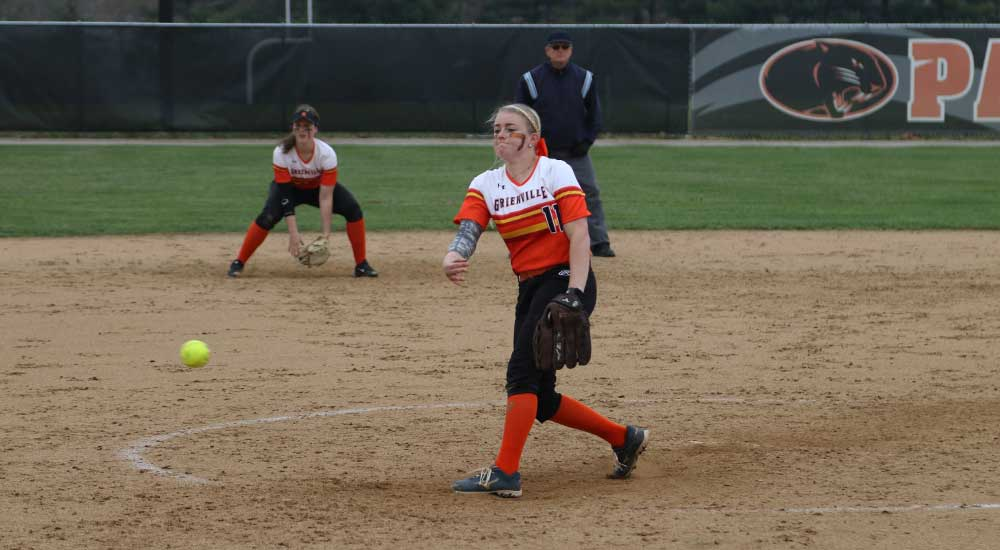 Softball grabs two SLIAC wins; Anderson records 17 strikeout, one hitter