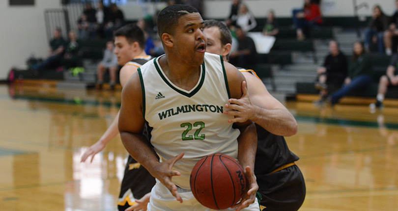Senior Malcolm Pittman tallied a team-high 12 points in his final college game. (Wilmington photo/Randy Sarvis)