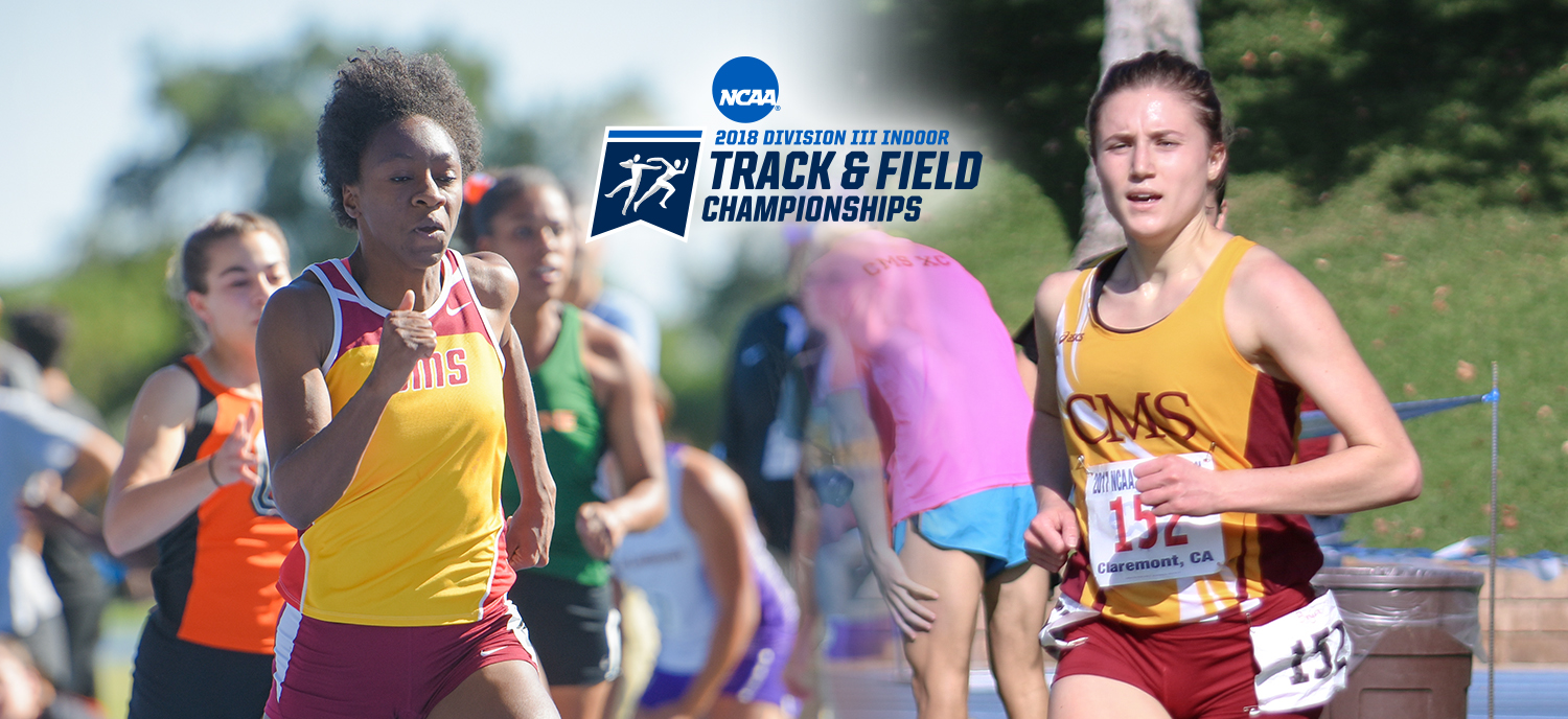 Tyra Abraham (L) and Bryn McKillop (R) both earned top-five finishes at the NCAA DIII Indoor National Championships.