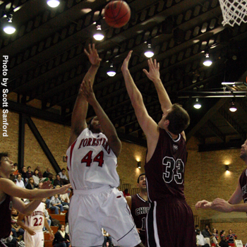 Frontcourt Leads Foresters to Victory over Trine