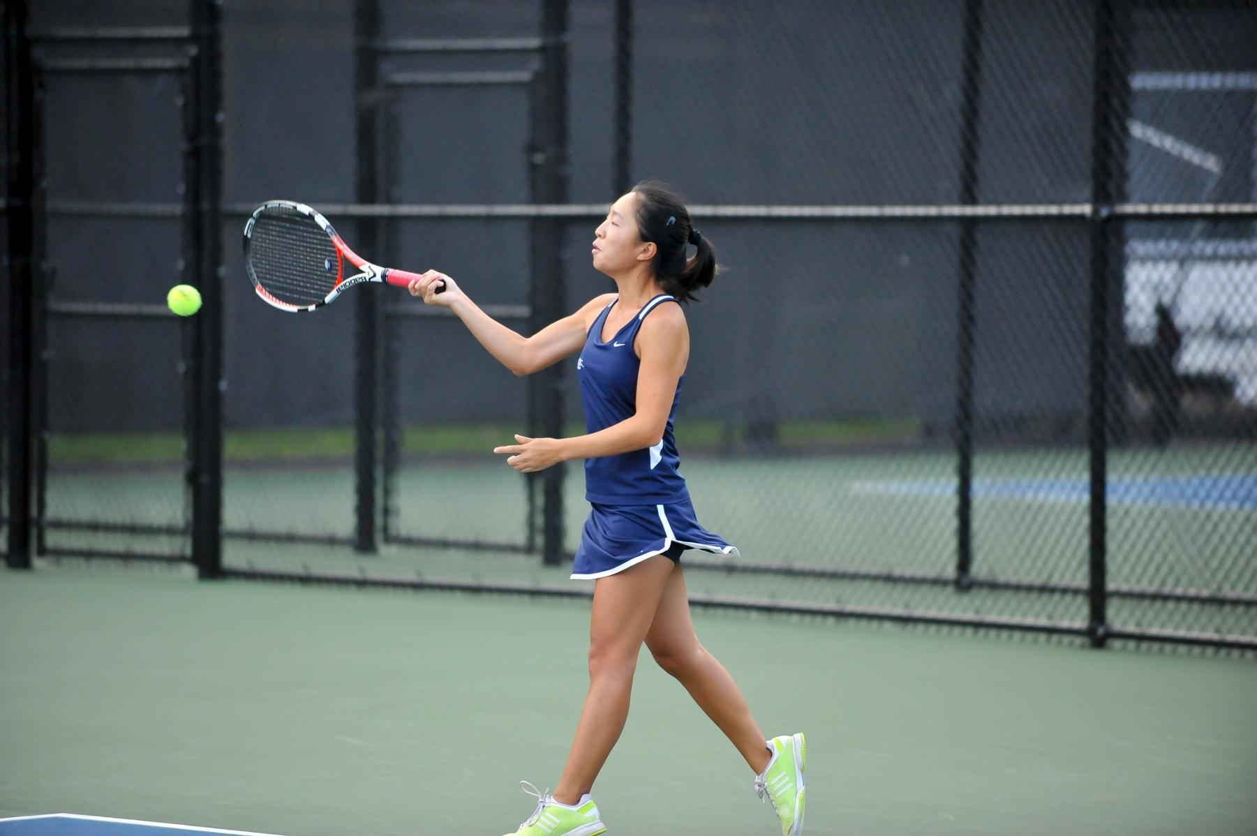 TENNIS POSTS 9-0 VICTORY OVER SIMMONS